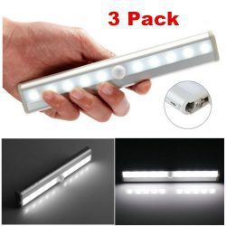 10LED Streifen mit Bewegungsmelder LED Nachtlicht