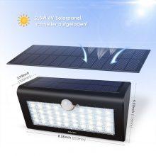 Albrillo LED Solarleuchte mit Bewegungsmelder LED