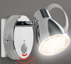 LED Nachtlicht mit Automatikfunktion direkt 230V mit Bewegungsmelder Steckdose