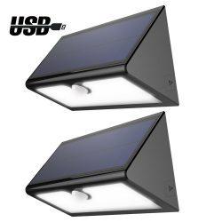 LED Solar Wandleuchte mit Bewegungsmelder