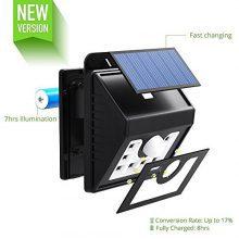 Mpow Solarleuchte 8 LED Solarlampe Sicherheits-, Bewegungsmelder LED