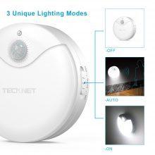 TeckNet® LED LED-Nachtlicht mit Bewegungsmelder LED und Helligkeitssensor