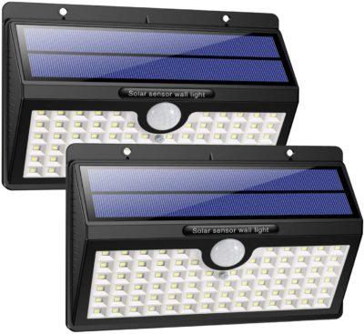 HEPT Solarlampe mit Bewegungsmelder für aussen, Solarleuchte aussen